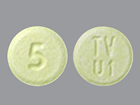 The 5-mg tablet