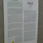 "AMHF presented ""No Person Is Untestable"" at the early morning poster session of NEPA."