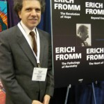 Executive director Evander Lomke announcing the publication of Erich Fromm by AMHF Books.