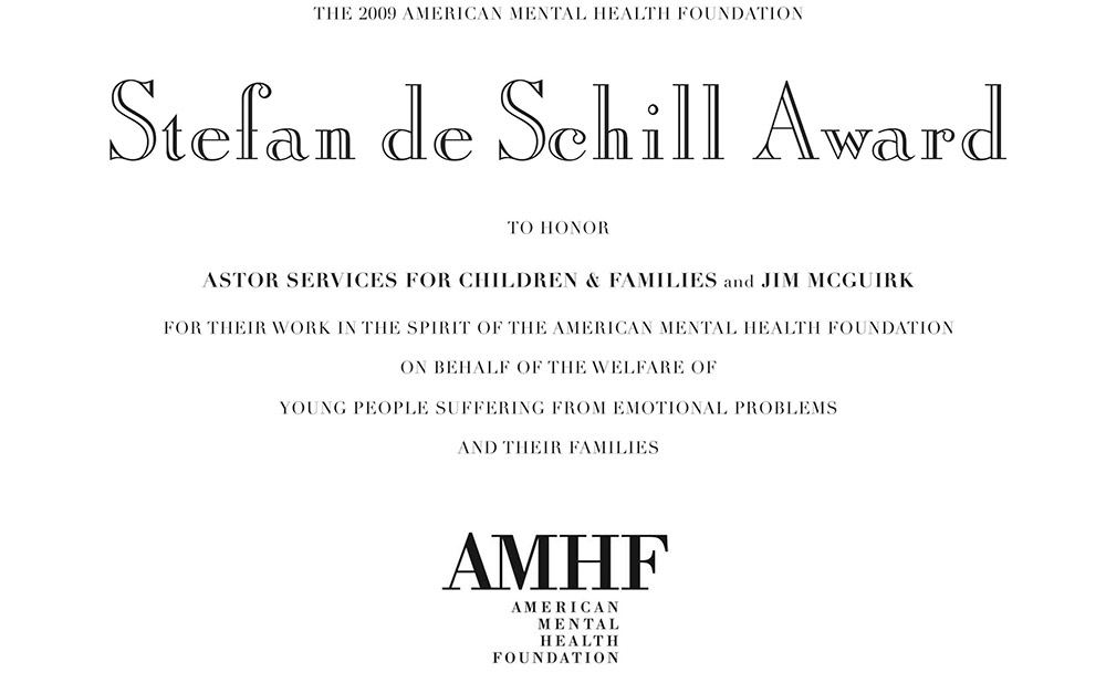 American Mental Health Foundation In Honor Of Stefan De Schill On