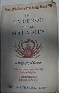 Pulitzer Prize-winning book on cancer by Siddhartha Mukherjee, who here talks about mental illness running in families