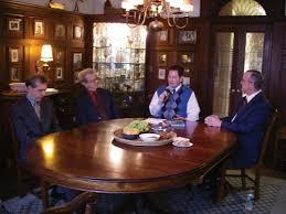 Left to right on Public Voice Salon: Evander Lomke, Dr. Henry Kellerman, host John Bredin, Dr. William Van Ornum
